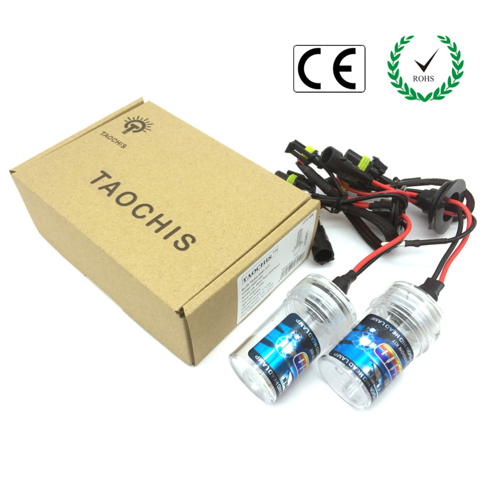 Taochis 12V 55W H3 Car HID Xenon Lamps Replacement Headlight Kit Bulbs 3000k 4300k 5000k 6000k 8000k 10000k 12000k 35w h13 xenon 8000k h4 single bulb car xenon bulbs h3 h7 hidlights h8 h9 h11 xenon hid lights for car 3000k 4300k 5000k