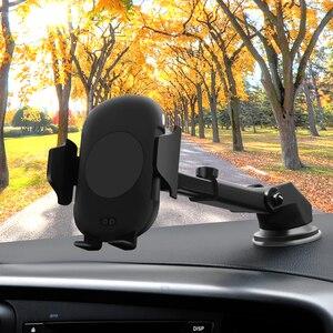 Image 5 - 696 c10 qi carregamento rápido sem fio carregador de carro 10w indução infravermelha automática ventilação ar titular do telefone carro para iphone para samsung