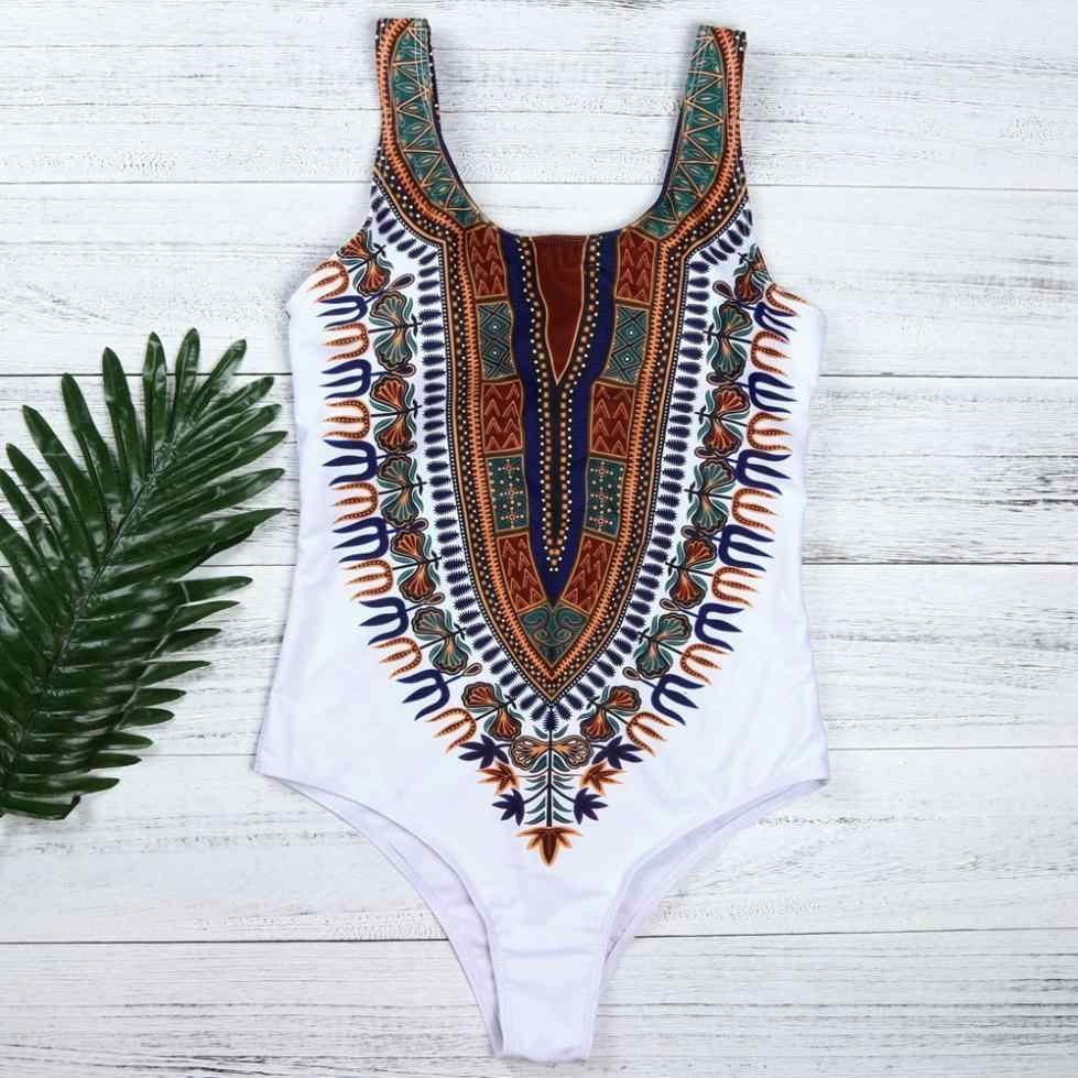 4fba4bcfc7b38 ... MUQGEW 2018 Women Swimwear Sexy One Piece Swimsuit Curve Appeal Swim  Suit Black White African Bathing ...