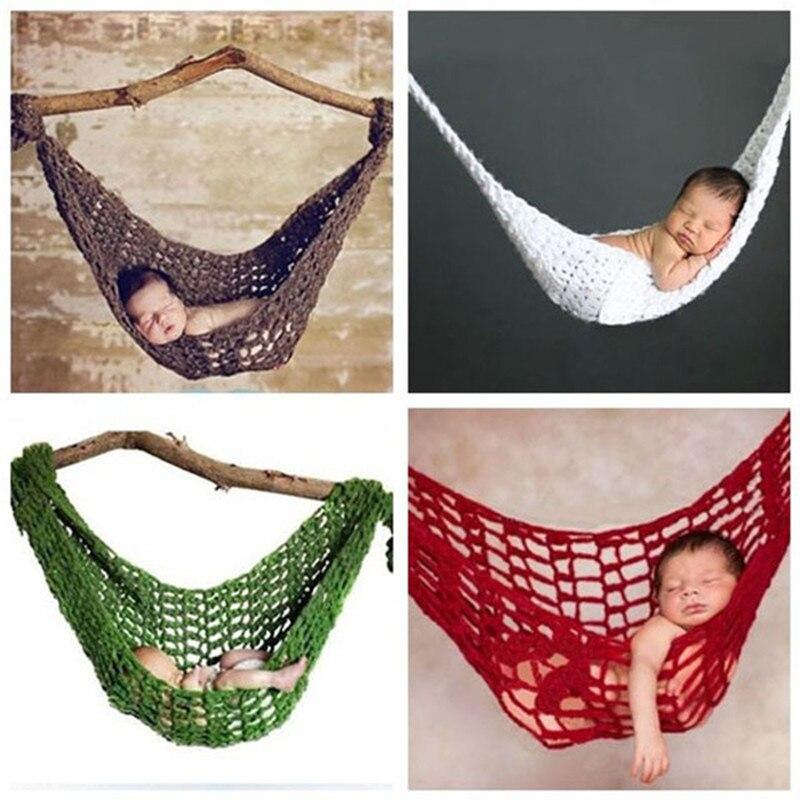 Photo Studio Accessories Handmade Hammock Cocoon Newborn Baby Boy Girl Photography Props Costume 3color