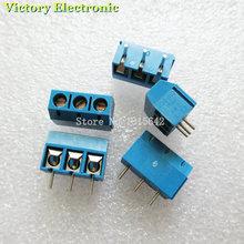 10 Pçs/lote KF301-5.0-3P KF301 KF301-3P Screw 3Pin 5.0mm PCB Alfinete Parafuso Bloco