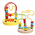 Wooden Toys for Children Kids Toddler Baby Math Toys Colorful Mini Around Beads Wire Maze Educational Toy