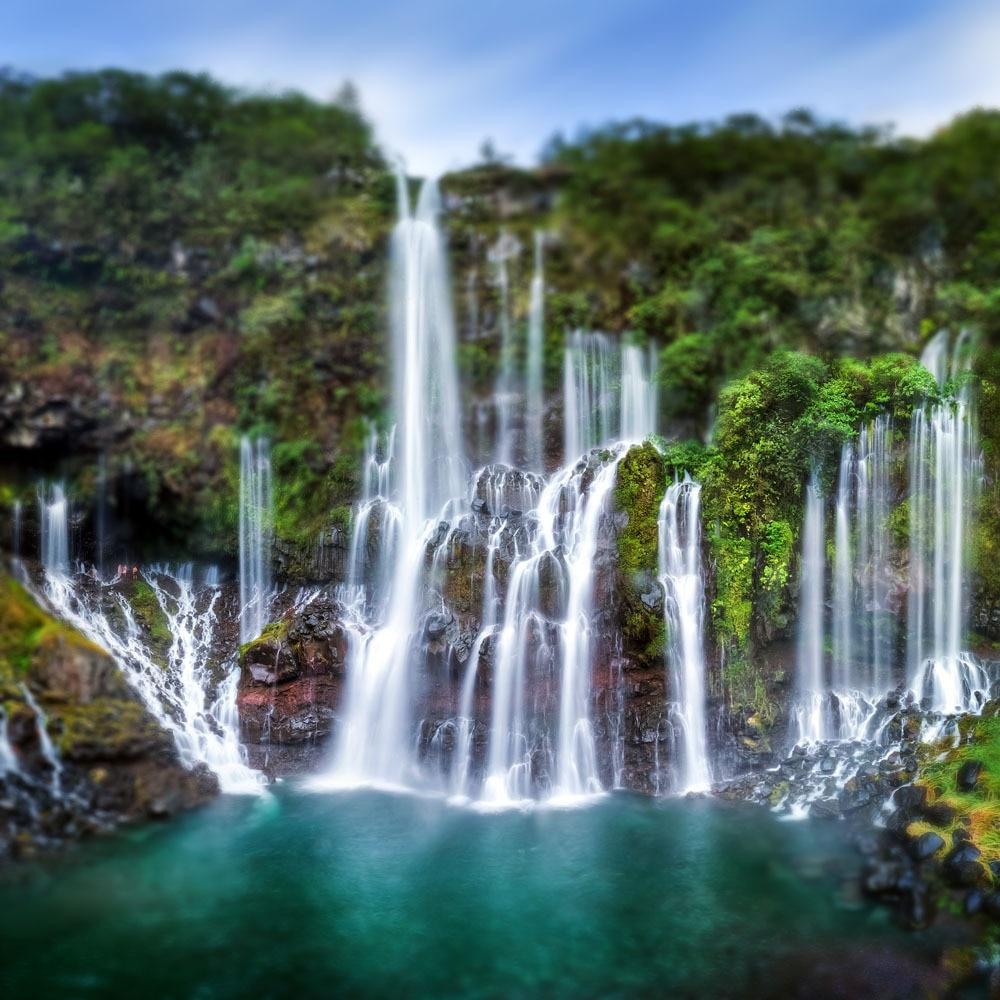 SHENGYONGBAO 10x10ft Art Cloth Custom Waterfall Theme Photography Backdrops Prop Digital Background JWA-09 я immersive digital art 2018 02 10t19 30