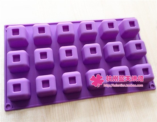 Free Shipping 18c Square Silicone Cake Chocolate Soap