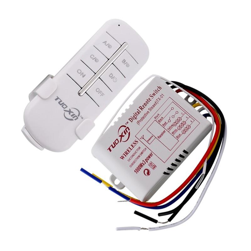 220V Intelligent Wireless Remote Control Switch No.3 Intelligent Digital Section Wireless Switch NEW стабилизатор напряжения rucelf srw 5000 d