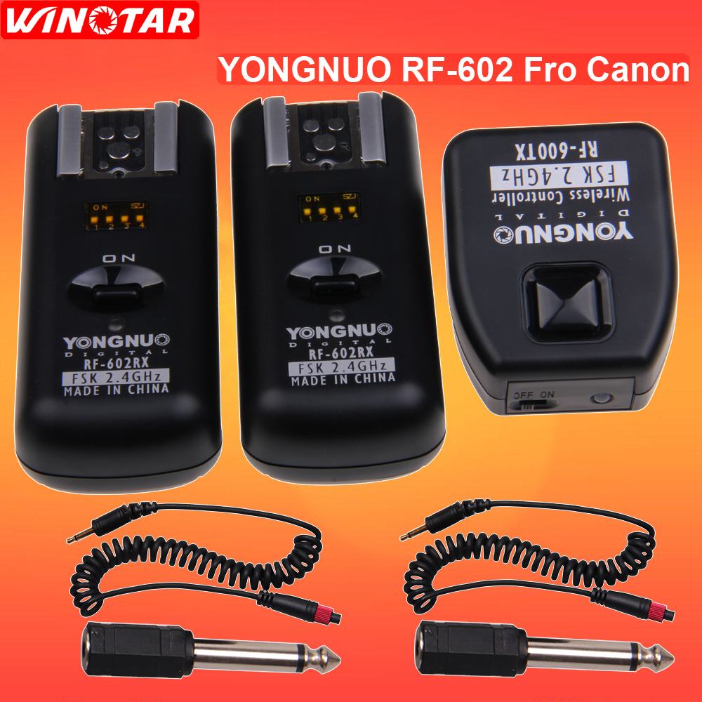 Yongnuo Wireless RF-602RX Flash Receiver For Canon//Nikon with 15 Frequency Channels