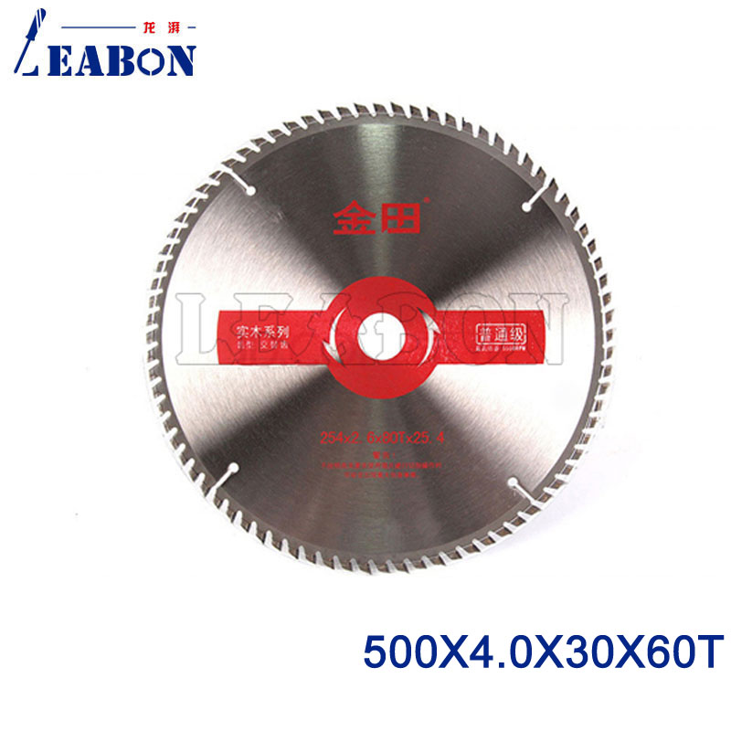 LEABON 500x4.0x30x60T TCT Circular Saw Blade 60 Teeth Woodworking Cutter Power Tools Accessories Bushing Washer 20mm
