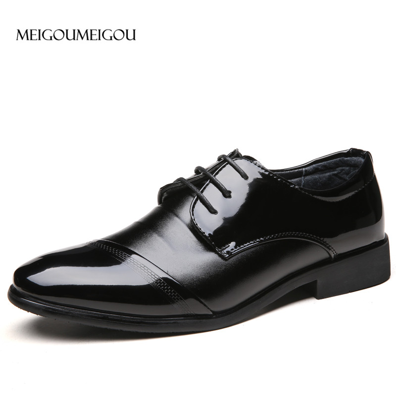 9fac1f2bc78 MEIGOUMEIGOU Patchwork Zapatos de vestir de hombre zapatos de cuero cómodos  suaves zapatos casuales de diseño