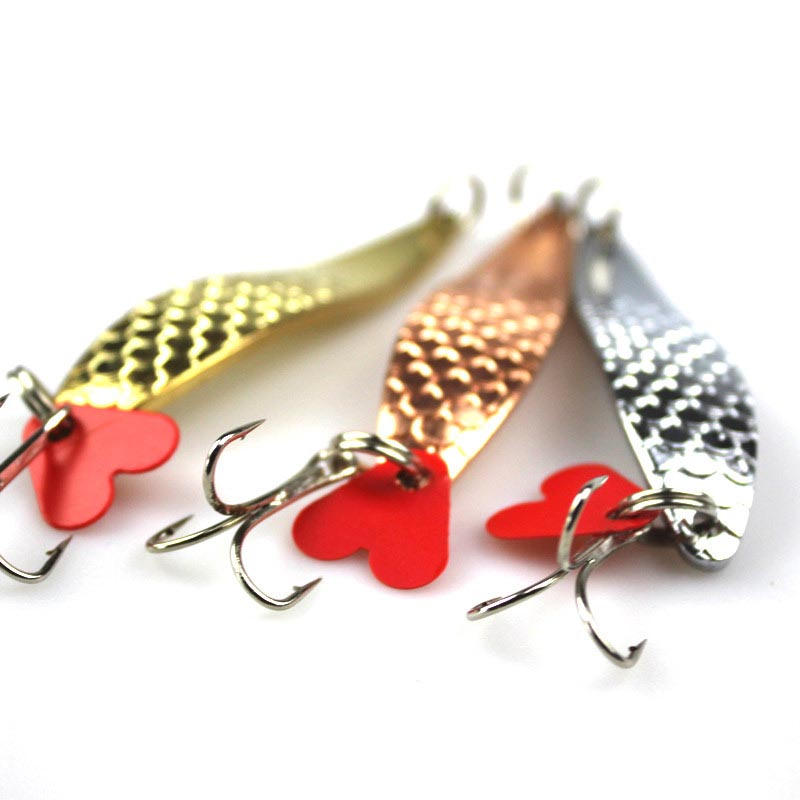 3PCS/Lot 10cm 17g Spoon Metal Lures Fishing Lures Brand Hard Bait Fresh Water Bass Walleye Crappie Fishing Tackle bammax fishing lure 1 box metal iron hard bait sequins shore jigging spoon lures fishing connector pin fishing accessories pesca