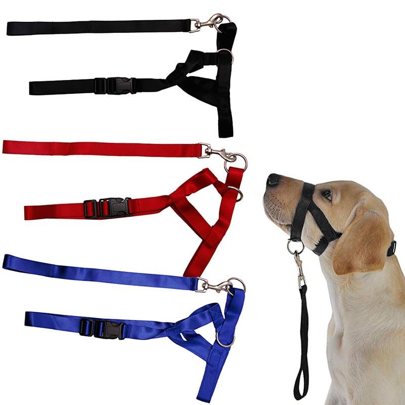 Pet Dog Padded Head Collar Champion Dog Training Halter Stops Pulling Training Tool