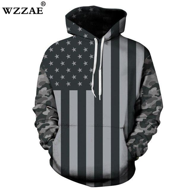 2018 Новый Демисезонный хип-хоп Пуловеры для женщин 3D принт Толстовки Для мужчин Американский флаг толстовка с капюшоном пары уличная sudaderas