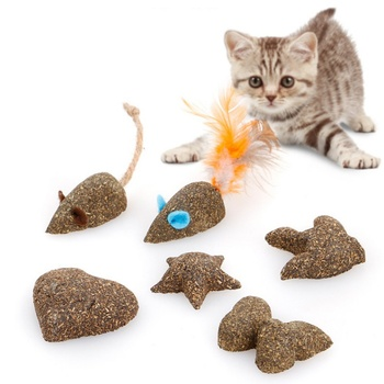 Catnip Toys Fake mice Clean the mouth Add Vitamins Mint ball Clean the mouth Pet Cat toy 1