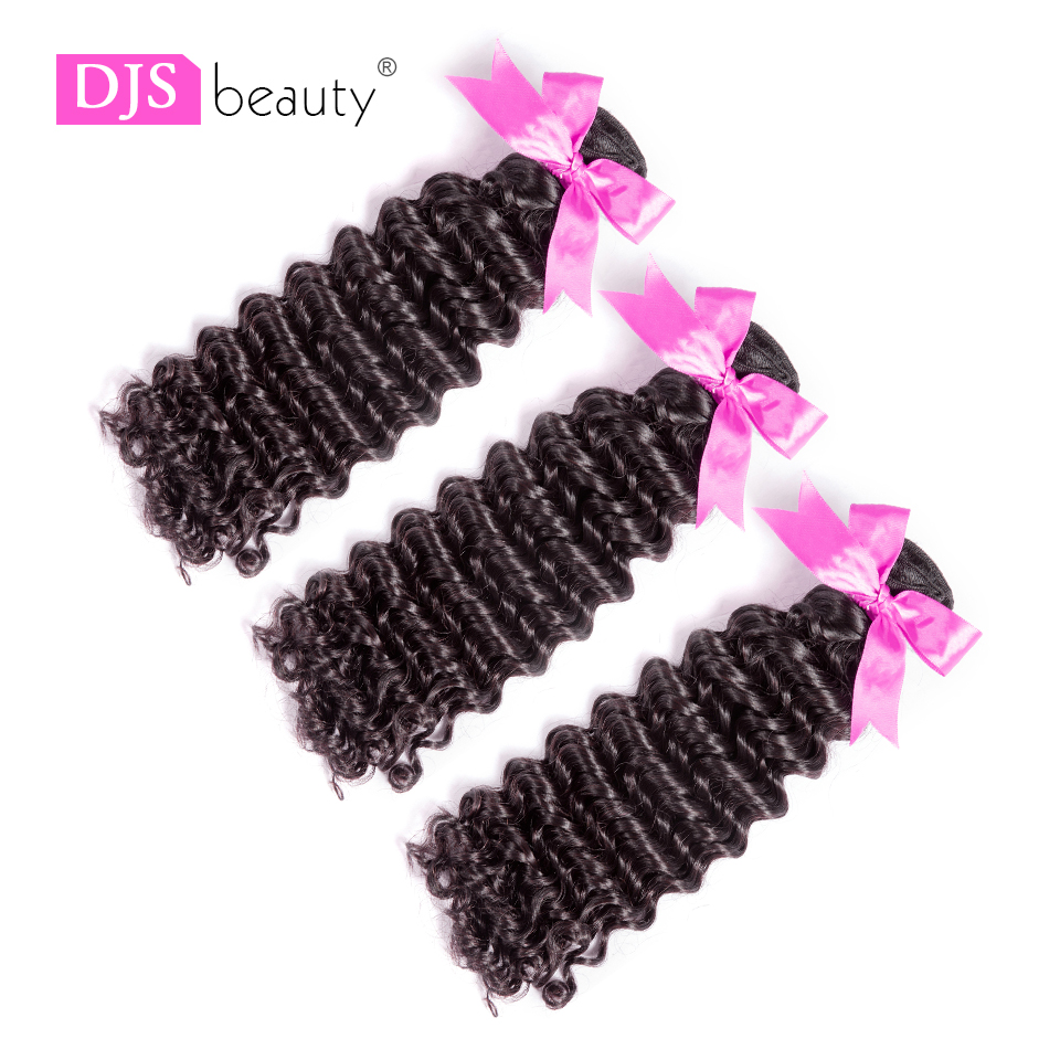 Gewidmet 8a Djs Schönheit Haar Peruanische Reine Haar Tiefe Welle Menschliches Haar Bundles Natürliche Farbe Freies Verschiffen Haarverlängerung Und Perücken