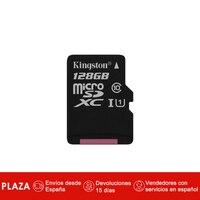 Kingston Technology Canvas Select, 128 GB, MicroSDXC, Clase 10, UHS I, 80 MB/s, Negro