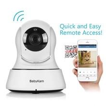 Babykam HD домашней безопасности Wi-Fi Видеоняни и радионяни 720 P IP Камера Ночное видение наблюдения сети Крытый Детская Камера S домашних животных Мониторы