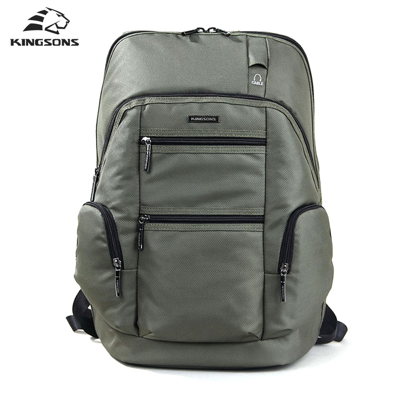 Kingsons Waterproof College Student Preppy Schoolbag 15.6 inch Computer Laptop Backpack Men Escolar Mochila for Teenagers Boys