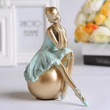 Ballet girl Europe style dance girl small ornaments home decor arts girl ballet resin figures Home Furnishing crafts gift cute