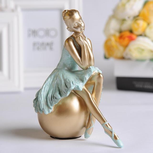 Captivating Ballet Girl Europe Style Living Room Small Ornaments Home Decor Arts Girl  Ballet Resin Figures Home