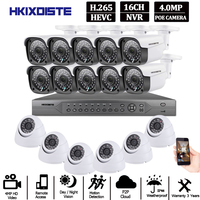 H.265 16CH CCTV systems camera nvr 4k ultra hd Waterproof 4.0MP Security IP Camera P2P Video Surveillance System Set