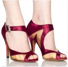 Free Shipping Women's High Heels For Small Feet Latin Dance Shoes Satin Upper Sexy Dance Shoes