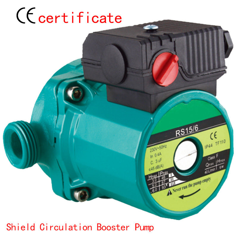 CE Approved shield circulating booster pump RS15-6, solar system, pressurized with industrial machine, air condition, warm water household heating hot water circulation pump to warm the ultra quiet booster pump central heating boiler air condition 100w 220v