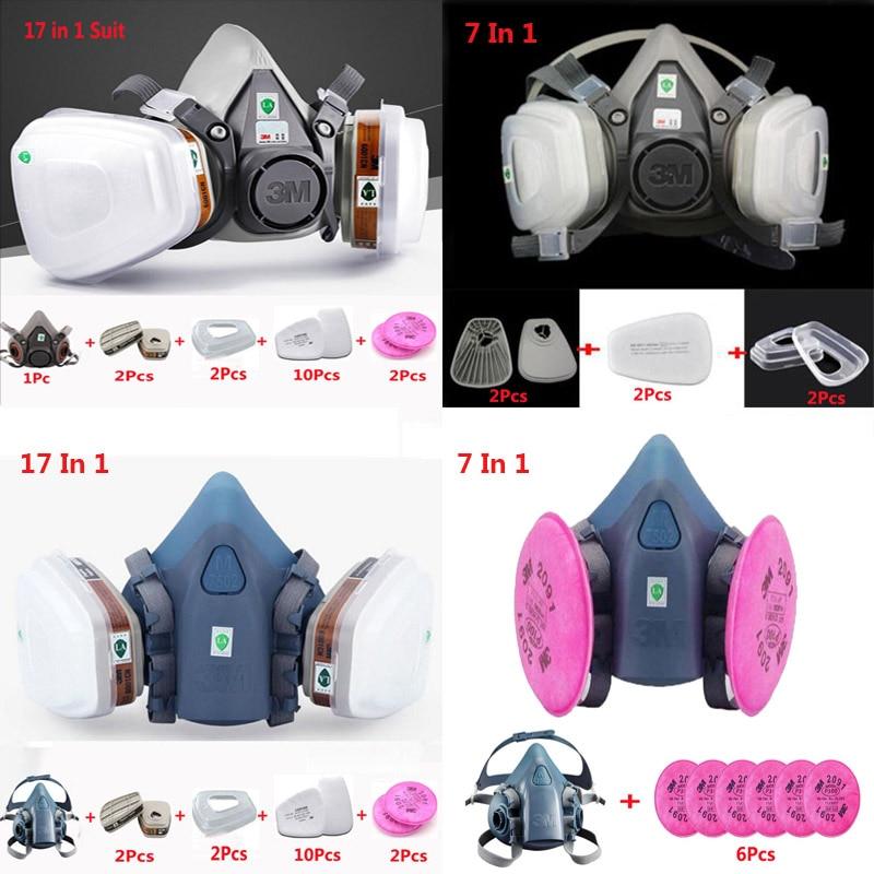 3 M 6200, 7502 Falf fack respirador de máscara de Gas de la industria de protección de seguridad de máscara de polvo respirador para pintura