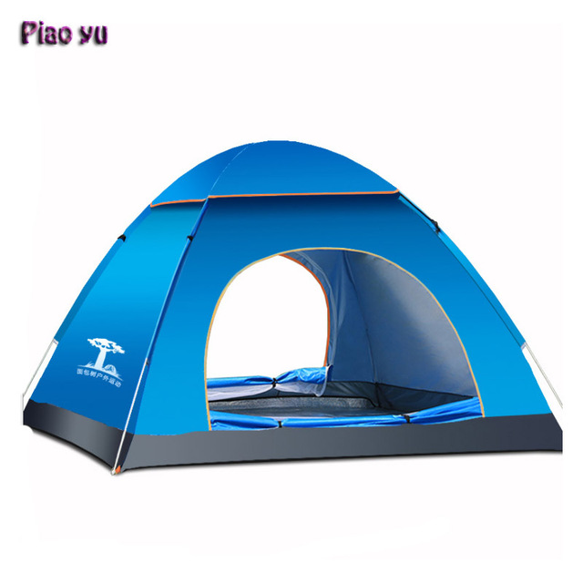 Automatic Outdoor C&ing Tent 3-4 People 170T Silver Plastic Sunscreen UV Tenty tourism Travel  sc 1 st  AliExpress.com & Automatic Outdoor Camping Tent 3 4 People 170T Silver Plastic ...