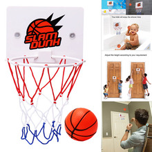 Newly Children Kids Mini Basketball Hoop Toys Suck Wall-Mounted Stand with Pump Sport Toy Set BFE88