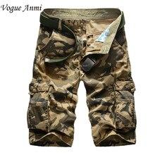 Насыпных multi-карман грузов brand военные комбинезоны камуфляж повседневная большой шорты мужская