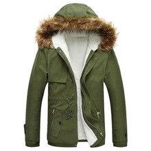 Hot Men Winter Jackets Fleece Warm Thick  Men Coats Outerwear Windproof Casual Coat With Hooded Mens Parkas Plus size 4XL