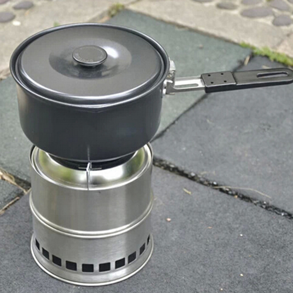 Portable Outdoor Cooking Camping Stainless Steel Wood Stove Pocket Alcohol  Stove - Wood Stove Manufacturers Promotion-Shop For Promotional Wood Stove