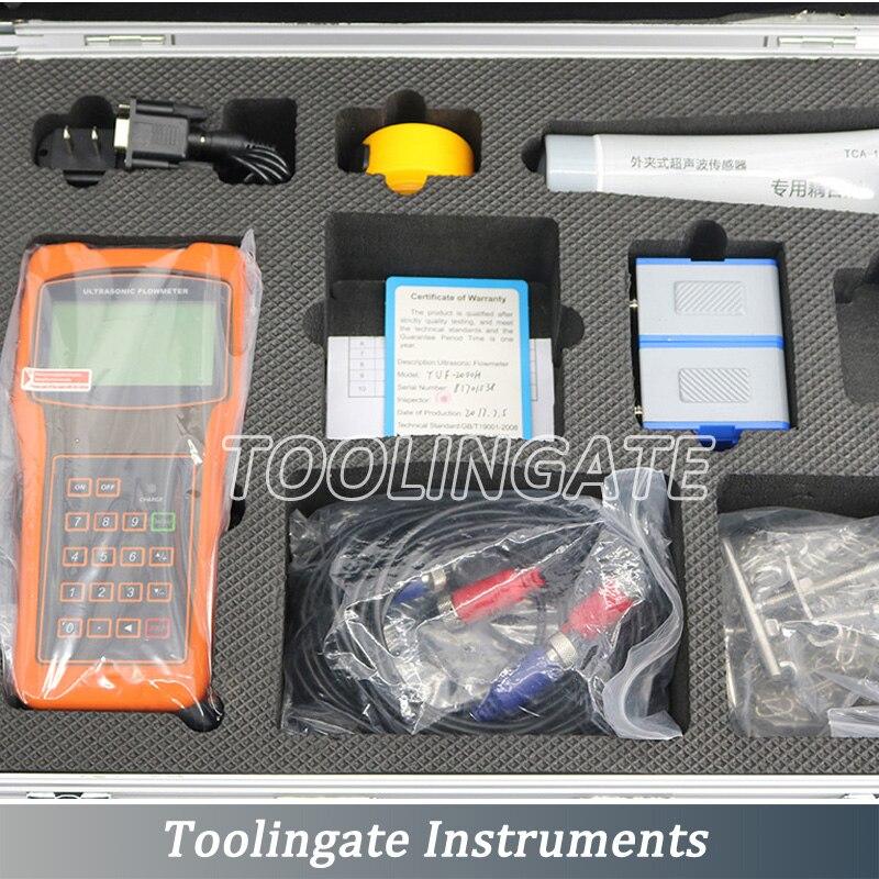 Handheld TUF-2000H with TL-1 transducers (DN300-DN6000mm) digital ultrasonic flowmeters professional original flow meter