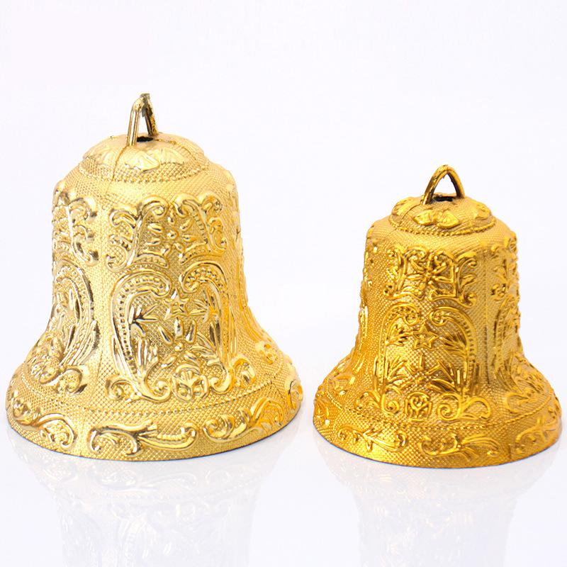 Size cm christmas gold bell metal accessories