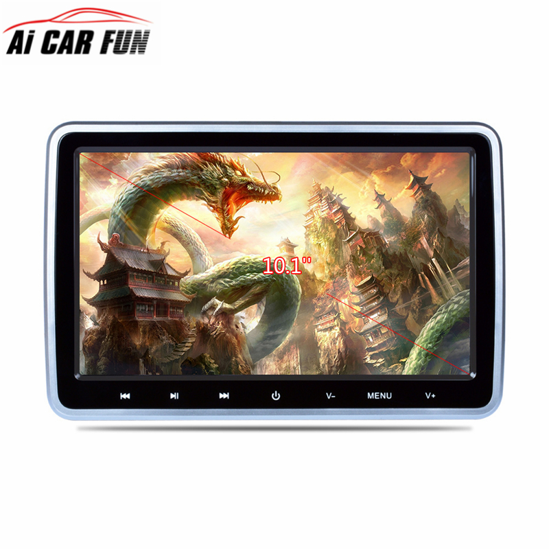 10.1 Inch 1024*600 Car Headrest Monitor DVD Player USB/SD/HDMI/FM/Wireless Games Function TFT LCD Screen without Headphone 2x 10 1 inch 1024 600 car headrest monitor dvd player usb sd hdmi fm game tft lcd screen touch button support wireless headphone