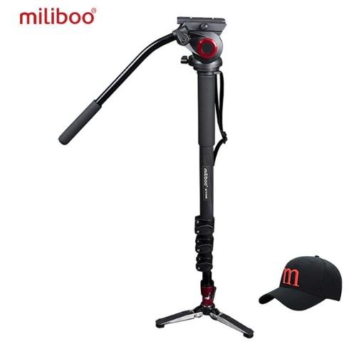 Miliboo MTT705B Carbon Fiber Portable Fluid Head Camera Monopod For Camcorder/DSLR Stand цена