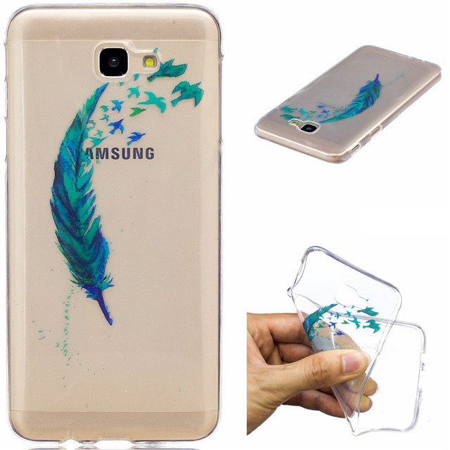 10a56911e2b Coque For Samsung Galaxy J5 Prime Case Fashion Transparent Silicone Cover  Soft TPU Phone Case Fundas Unicorn Stair cat Feather