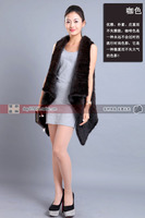 New winter mink fur vest mink knit long cardigan coat female european and american style