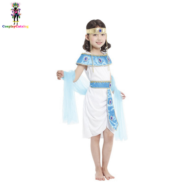Halloween Camouflage Goddess Of Egypt Costume For Children,Carnival Party Kids Exquisite Cleopatra Costumes Child/Girl Clothes