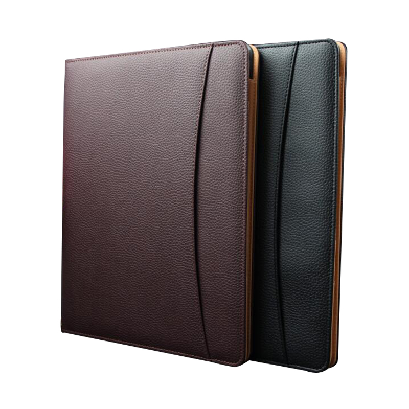 A4 Leather Business Notebook Fitted Note Pad Composition ...