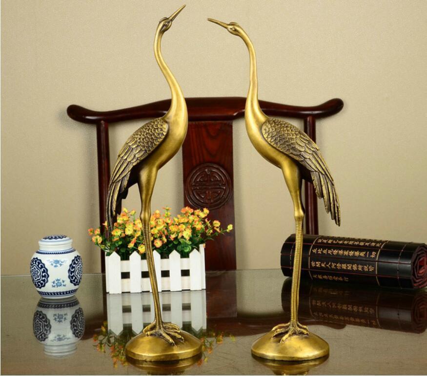 Daoist Brass Crane Pair 3
