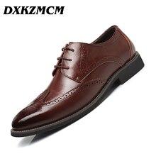 DXKZMCM Men Formal Business Split leather Men Dress office Shoes Men comfortable Gentleman shoes