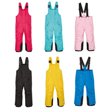 Winter Ski Pants Fleece Girls Waterproof Outdoor Snowboard Trousers Boys Children Snow Pant Warm Windproof Skiing Overalls