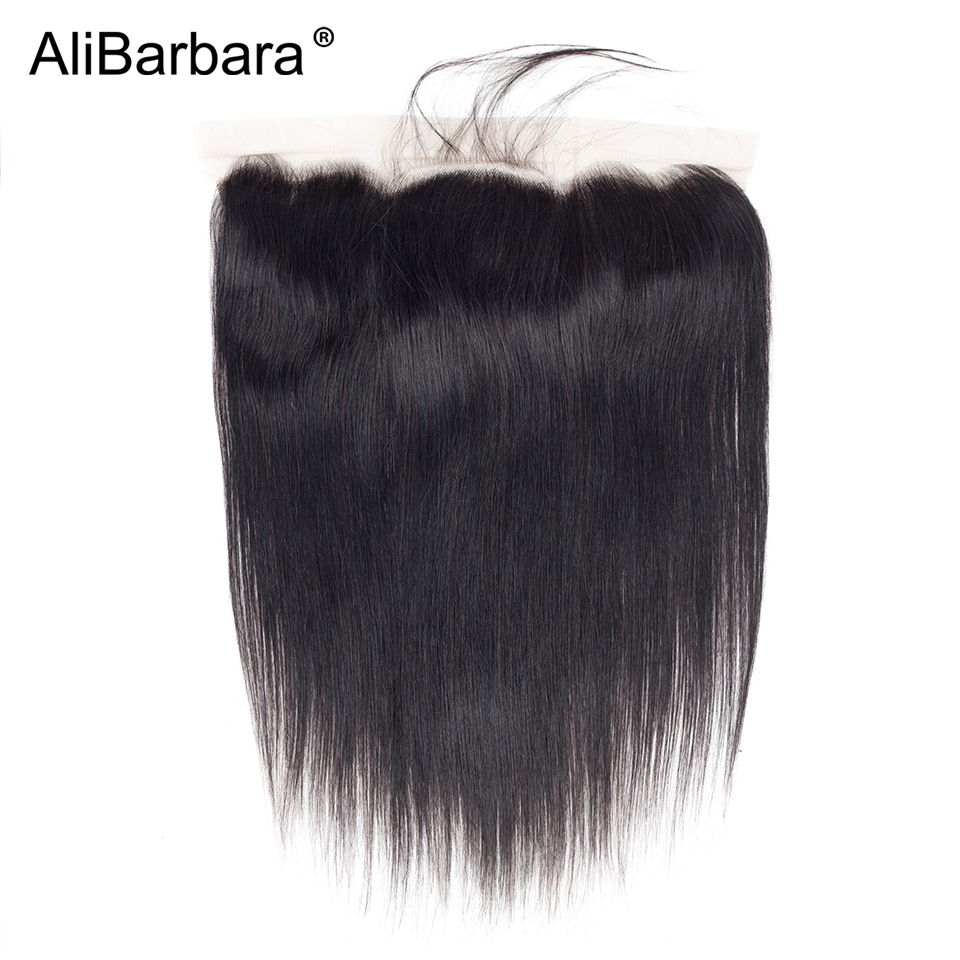 Alibarbara Hair Ear to Ear Lace Frontal Closure 13X4 Free Part With Baby Hair Pre Plucked
