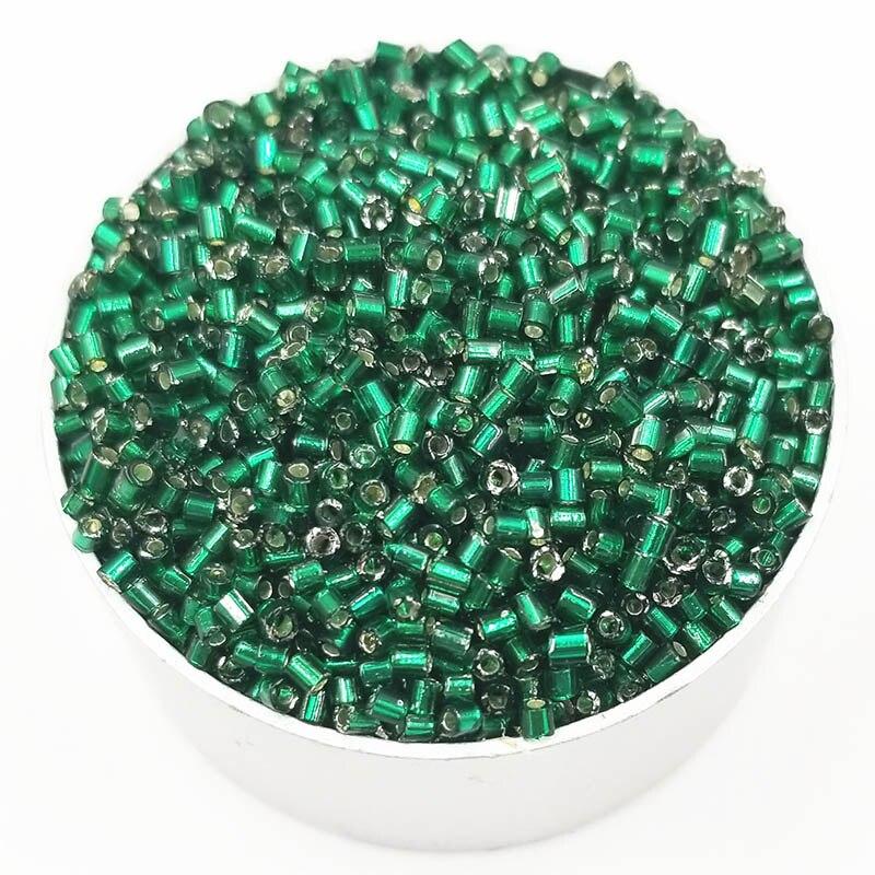 1000 шт./упак. Лидер продаж 18 Цвета цилиндрический Стекло Диаметр 2 мм DIY для Цепочки и ожерелья Браслеты свободные бусины - Цвет: 1