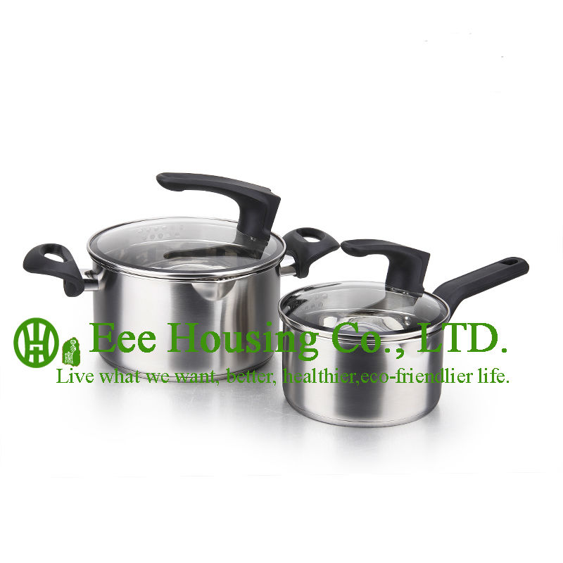 Stainless Steel Cooking Cookware Kitchenware Set For Sale Free Shipping Manufactuer In China Soup Pot And Milk Pot Kitchen