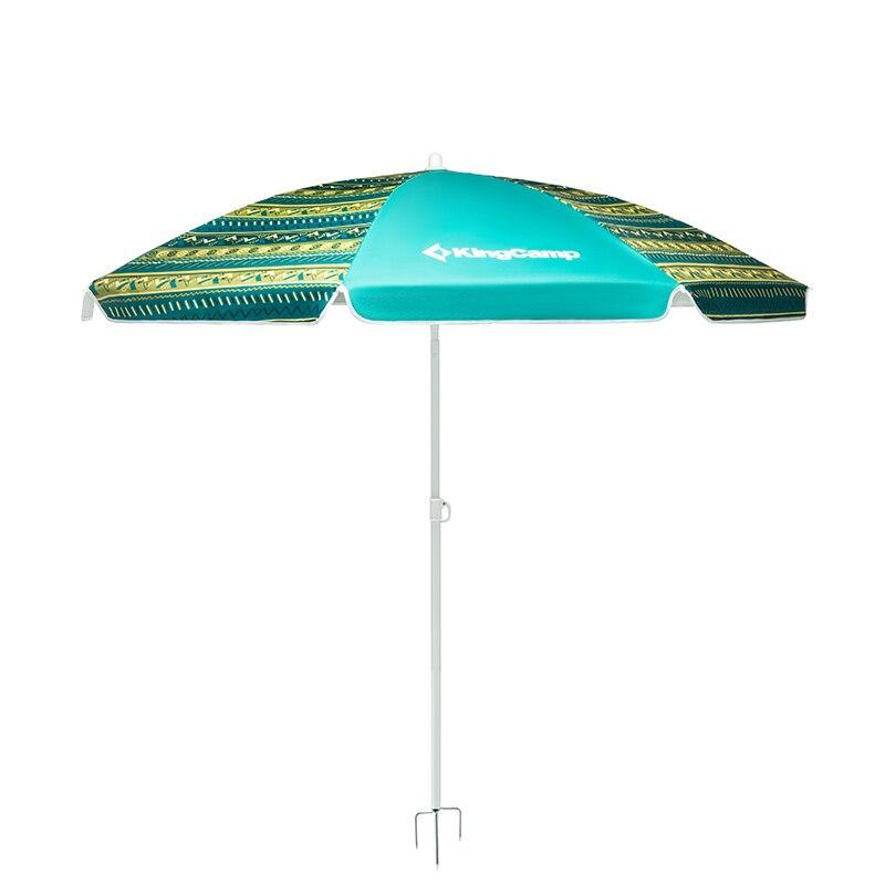 Kingcamp abri solaire Stable réglable en hauteur Protection UV poids léger Durable 3-4 personnes grand parapluie de plage à baldaquin