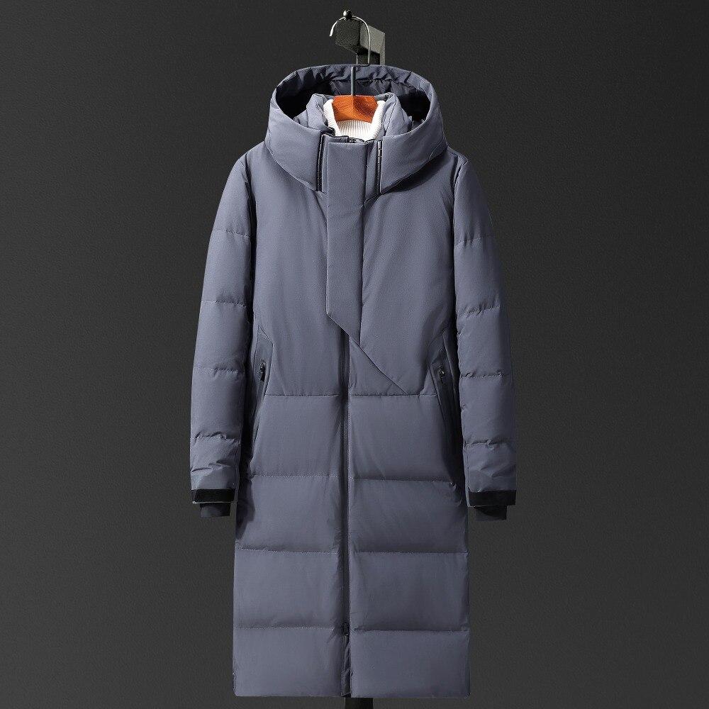 Marke Lange Mantel Schnee Mantel X-lange Unten Jacke Verdicken Warme Winddicht Russland Männer Winter Jacke Hut Doudoune Homme-40 Grad Einfach Zu Verwenden Herrenbekleidung & Zubehör