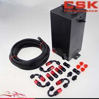 4l 4 litros de alumínio completo tanque impulso tanque redemoinho pot sistema + mangueira óleo preto|oil hose -