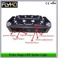 Бесплатная доставка Flyko профессиональный свет светодиодный Паук свет с запасными частями 8 шт