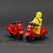 Motorcycle Moto Vehicles Accessories Parts City Building Blocks Model Toys Compatible With Legoinglys For Child